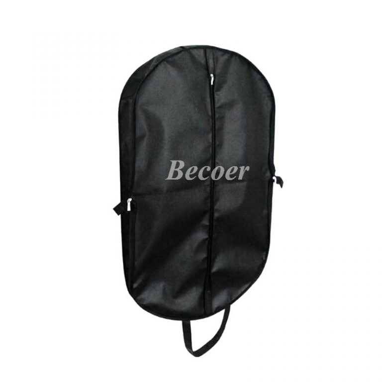 promotional Eco-friendly Reusable Black Non Woven Suit Travel Bag